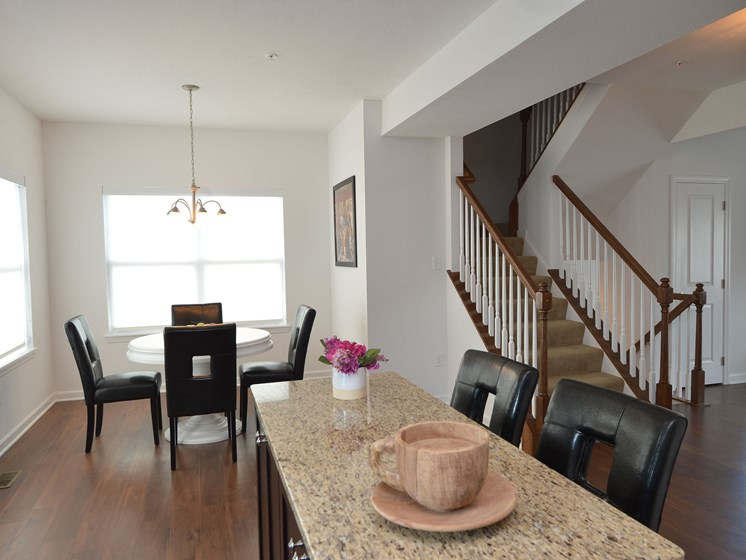 Kitchen and Dining Room, Highland Village pet-friendly Townhomes in Ross Township, Pittsburgh, PA