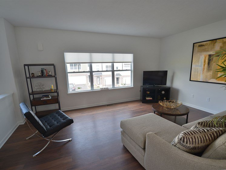 Livingroom, Highland Village pet-friendly Townhomes in Ross Township, Pittsburgh, PA