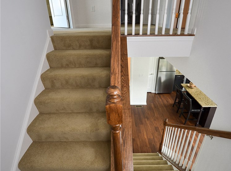 Stairs, Highland Village newly constructed Townhomes in Ross Township, Pittsburgh, PA