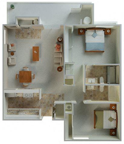 Palamino Corner 1042 sqft floor plan