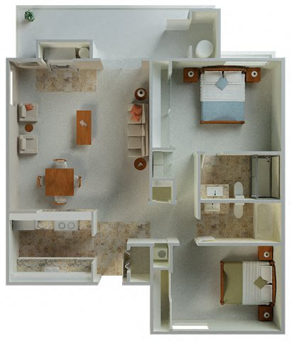Palamino interior 2x2 1030 sqft  floor plan