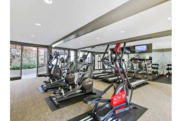 State-of-the-art fitness center, at Woodcliff Apartments, Los Angeles, CA 90034