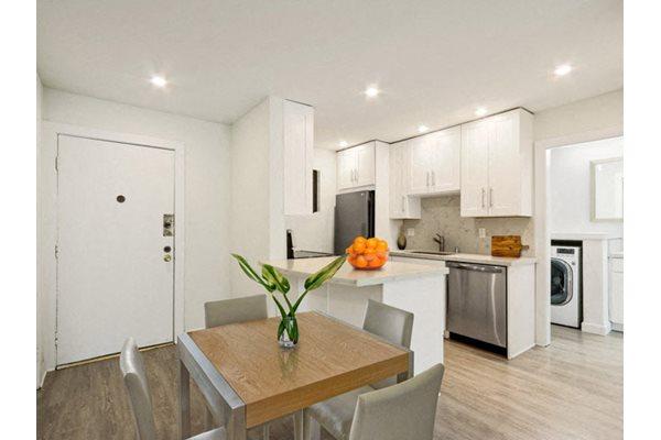 Quartz countertops in select apartments at Woodcliff Apartments, CA 90034