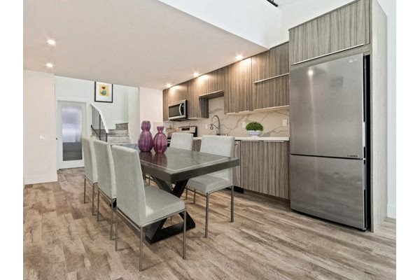 Refrigerators in select apartments, at Woodcliff Apartments in LA, California, 90034