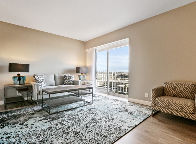 Renovated Furnished Living Room at Marina Tower