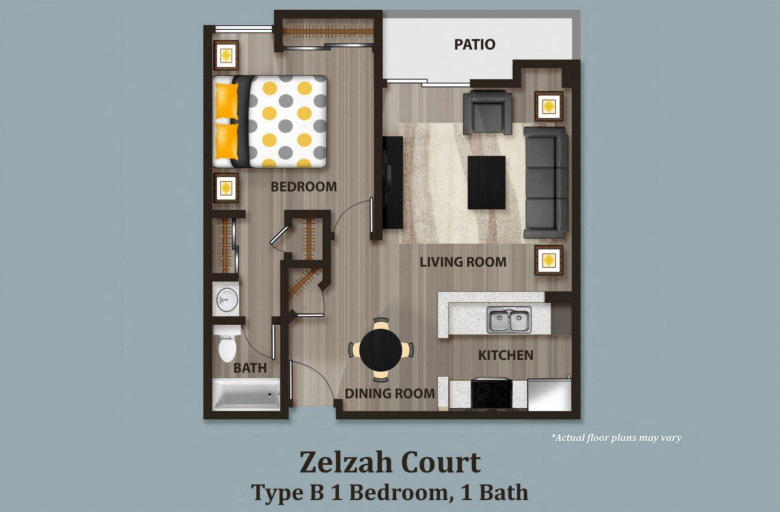 Floor Plans of Zelzah Court in Northridge, CA