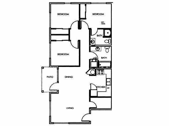 Floor Plans Of Merlo Station In Beaverton OR Delectable 4 Bedroom Floor Plan