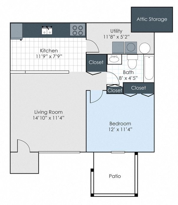 The Hampton - Renovated Floor Plan 3