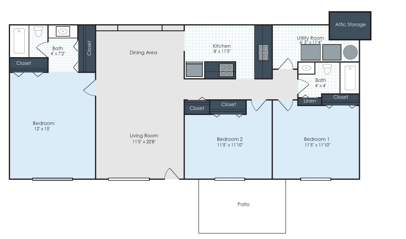 The Manchester - Renovated Floor Plan 6