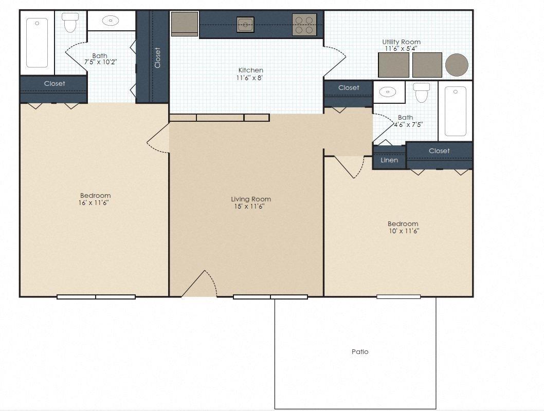 The Hadley - Renovated Floor Plan 5