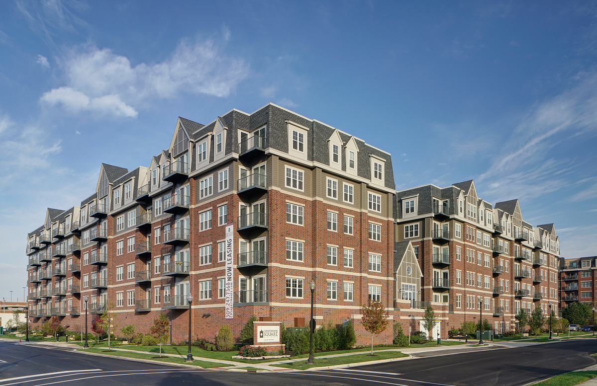 Genial Modern And Classic Brick Construction At Courthouse Square Apartments,  Wheaton, IL, 60187