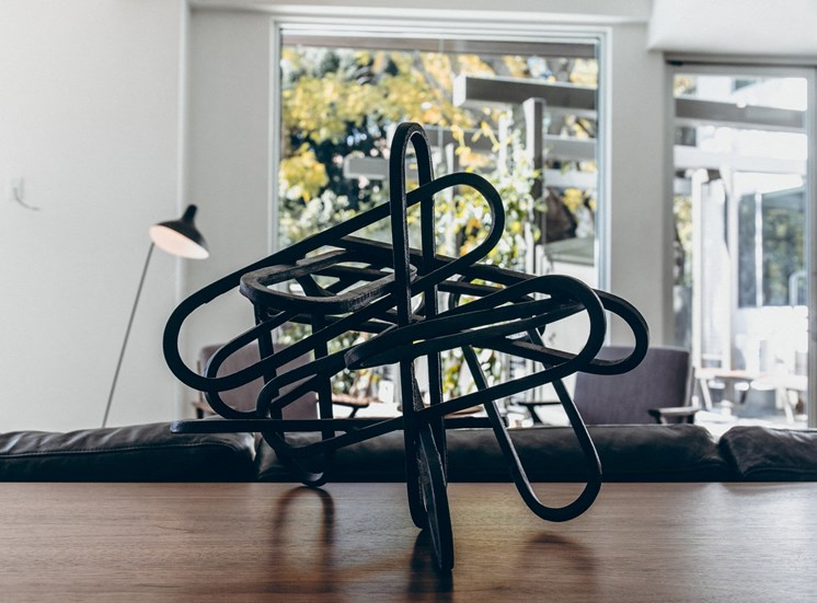 Modern art abstract geometric sculpture decorative accent