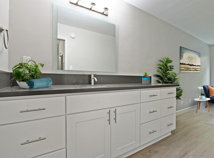 Vanity Area - Luxury Apartments for Rent in Westwood