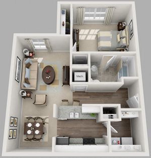 Residences at Jefferson Crossing 1 Bedroom