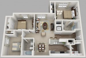 Residences at Jefferson Crossing 3 Bedroom
