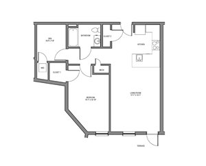one bedroom with den. One Bedroom with Den MetroMark Apartments  3611 Washington Street Boston MA RENTCaf