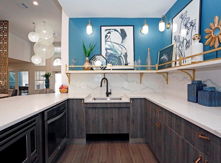 Rich Shaker Style Cabinetry at Ellie Apartments, Austin, TX, 78741