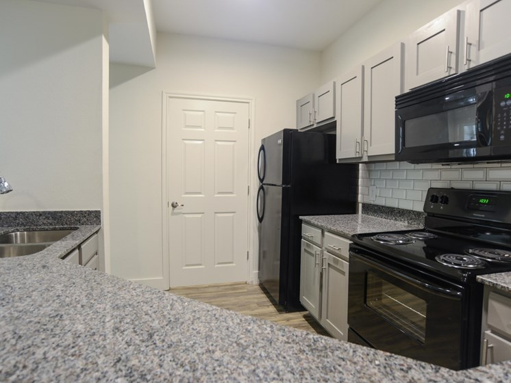kitchen cupboards at Ellie Apartments, Texas, 78741
