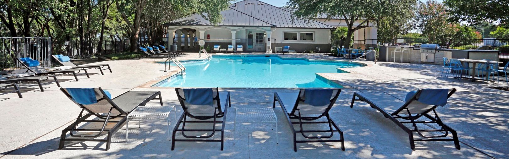 Pool side Lounge Chairs at Ellie Apartments, Texas, 78741