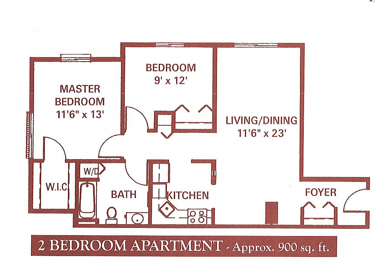 2 Bedroom (Large) Floor Plan 4