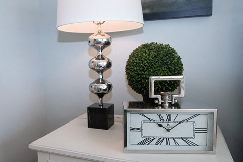 Alarm Clock With Table Lamp at Meridian at Fairfield Park, Wilmington, NC, 28412