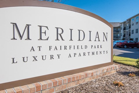 Welcome Sign at Meridian at Fairfield Park, North Carolina, 28412