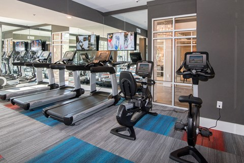 Fully Equipped Fitness Center at Meridian at Fairfield Park, Wilmington, NC