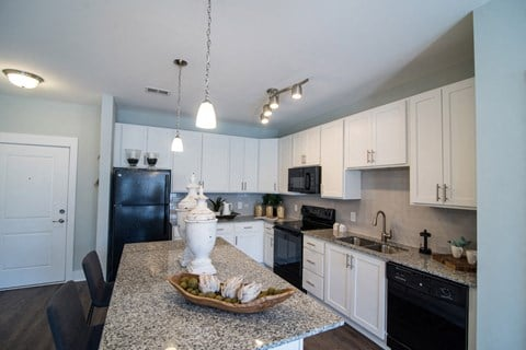 Kitchens With High-Quality Countertops at Meridian at Fairfield Park, Wilmington, NC, 28412