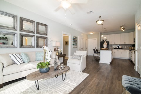 Expansive Living Room at Meridian at Fairfield Park, Wilmington, North Carolina