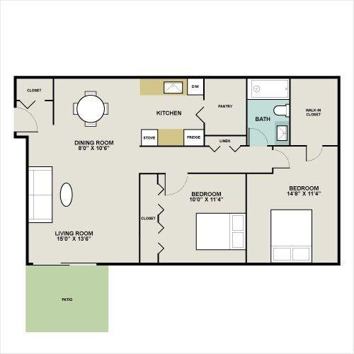 Springbrook w/ Washer & Dryer Floor Plan 3