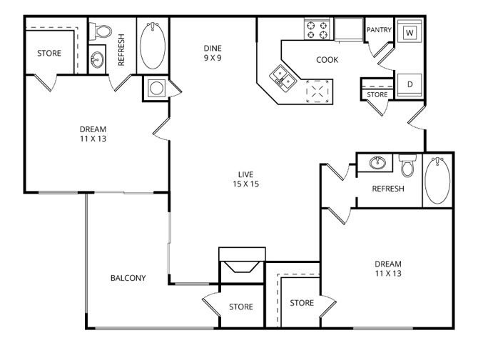 The Brookside Floor Plan 3