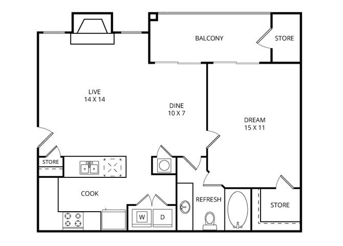 The Meadowview Floor Plan 1