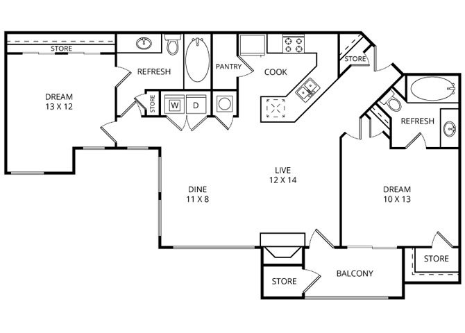 The Springs Floor Plan 4