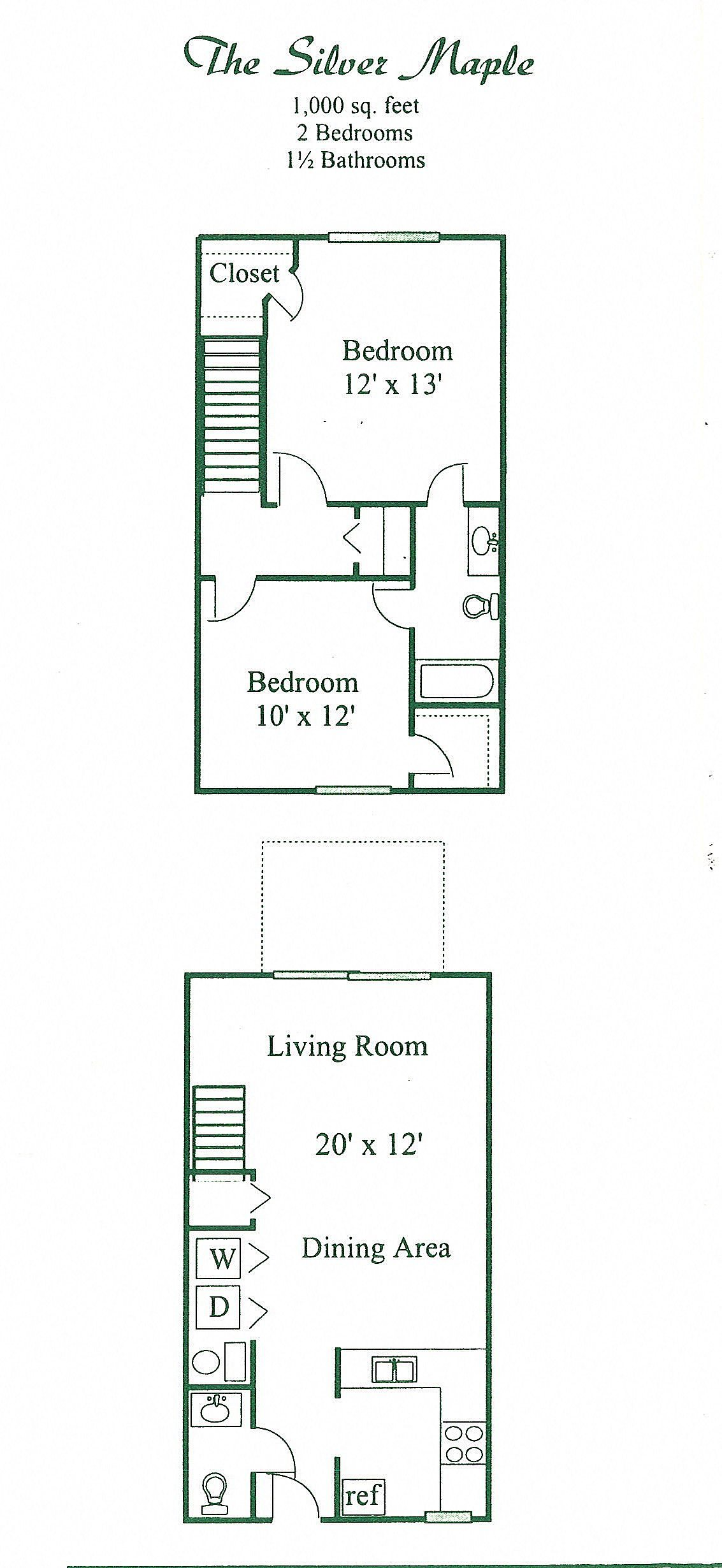 Silver Maple Floor Plan 1