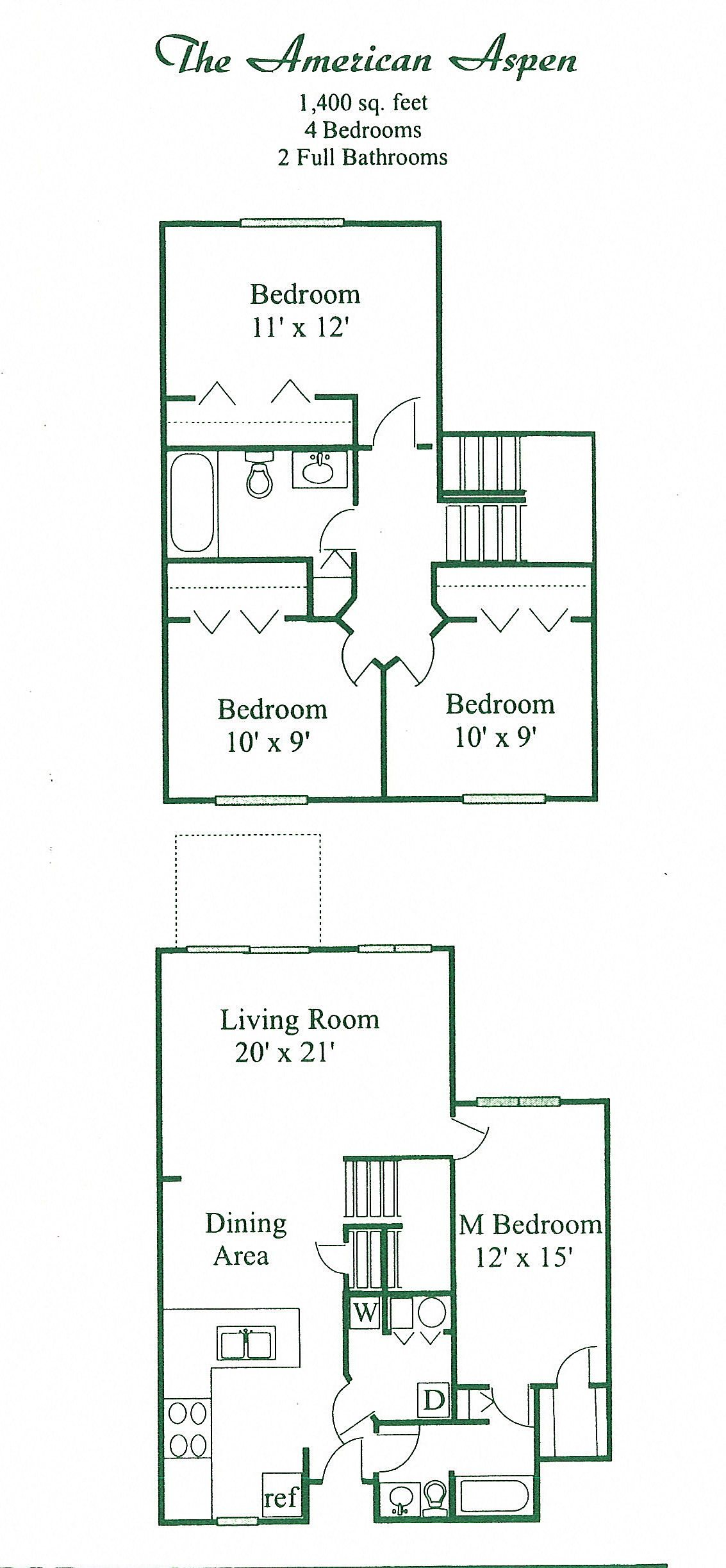 The American Aspen Floor Plan 4