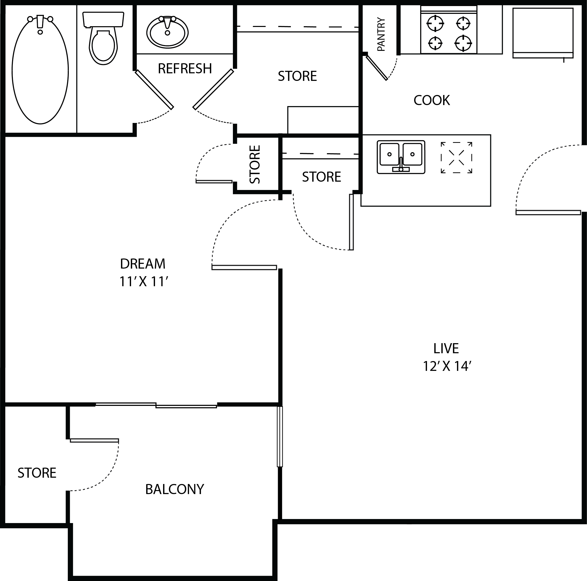 LAMPLIGHTER Floor Plan 1
