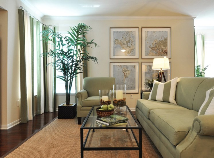 Spacious Living Room With Oversized Windows at Beacon Lakes Apartments, Dickinson,