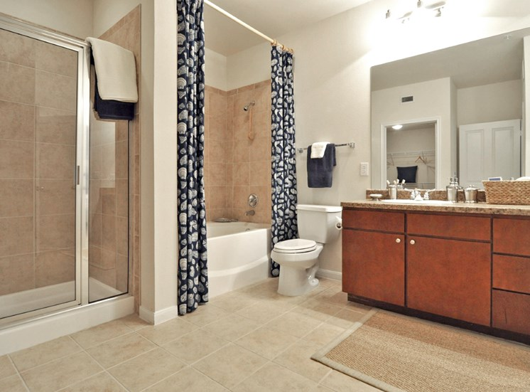 Spacious Bathrooms With Dry and Wet Area at Beacon Lakes Apartments,TX,