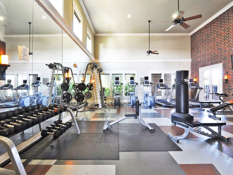 Beacon Lakes Apartments has 24-hour Fitness Center with Free Weights