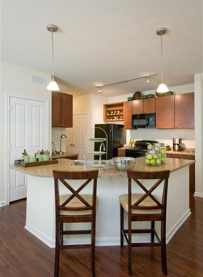Separate Dining Area With Modern Lighting at TX,77539