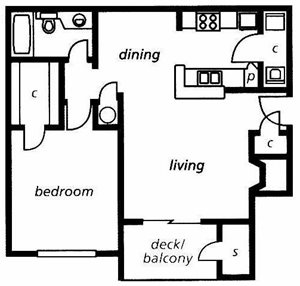 The Avenue Floorplan at Briarcliff Apartments