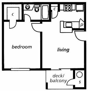 The District Floorplan at Briarcliff Apartments