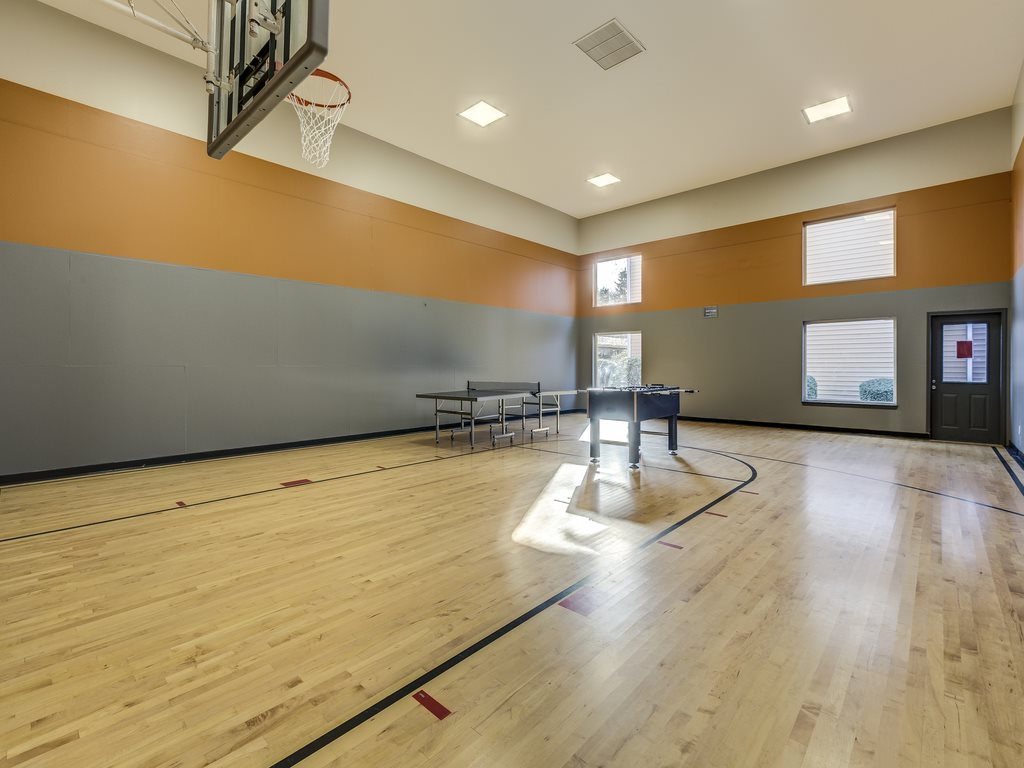 Indoor Resident Sports Court at Cascadia Pointe, Everett, WA