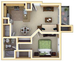 Grant Floorplan at Deerfield Village Apartments