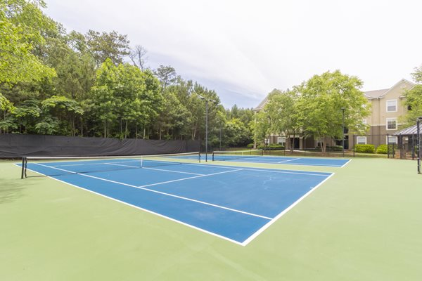 Two Lighted Tennis Courts at Deerfield Village Apartments, Alpharetta, 30004