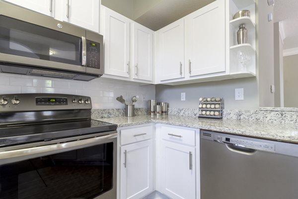 Stainless Steel Appliances at Deerfield Village Apartments, 13085 Morris Rd, Alpharetta, 30004