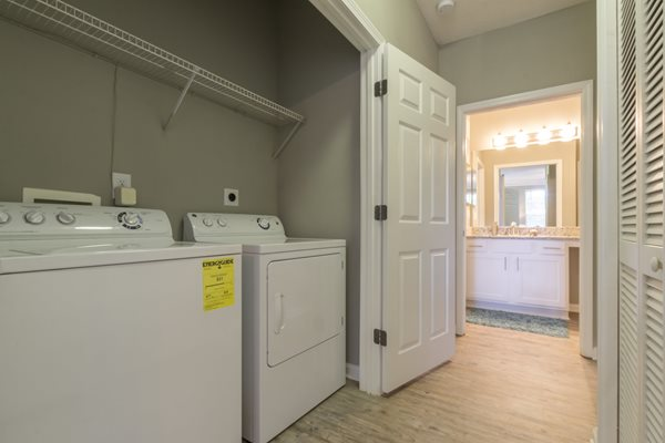 Full Size Washer and Dryer at Deerfield Village Apartments, 13085 Morris Rd, Alpharetta, GA