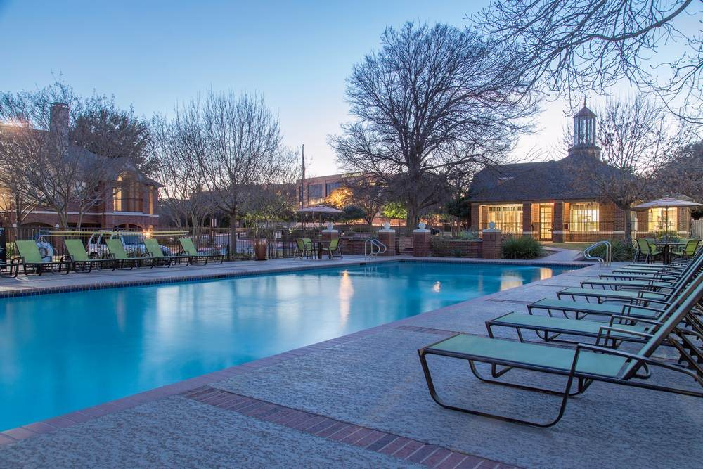 Estate on Quarry Lake Apartments, Austin, TX,78759 has Pool Side Relaxing Area
