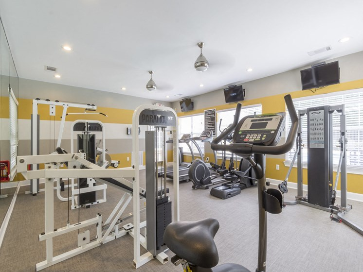 24-hour fitness studio, Cardio equipment and weight station
