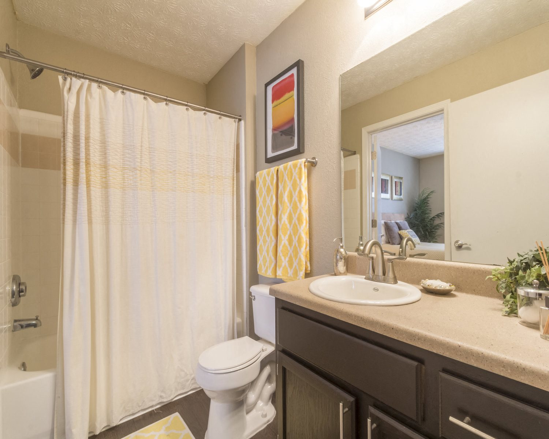 Junior bathrooms with vanity & sink